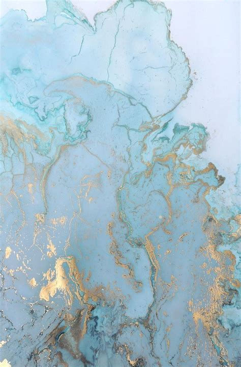 wonderful blue  gold marble texture art painting