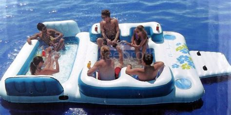 New Giant Inflatable Floating Island 6 Person Raft Pool