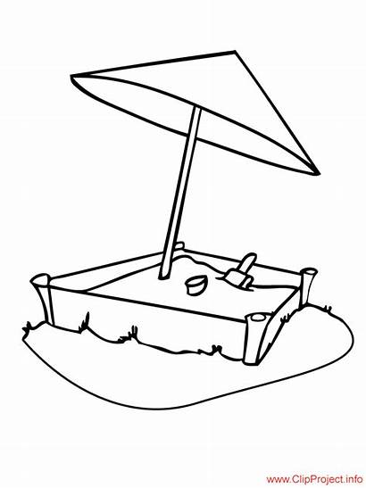 Sandbox Coloring Pages Colouring Clipart Sheet Title