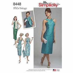 Pattern 8448 Misses' Vintage Dress with Lined or Unlined