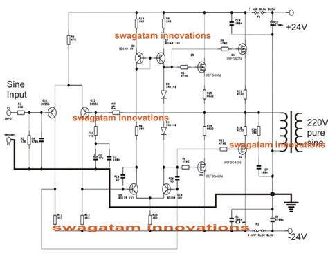 simple sine wave inverter circuit 500 watt sine circuit diagram true sine wave
