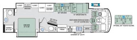Lgi Homes Floor Plans West by Thor Class A Motorhomes Rv Models Specifications