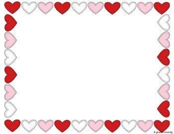 Heart Border Clipart by Glue Sticks and Glitter | TpT