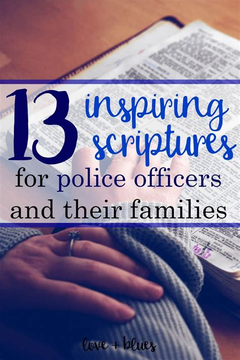 inspiring scriptures  police officers police wife