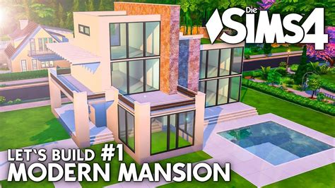 Grundriss  Die Sims 4 Haus Bauen  Modern Mansion #1