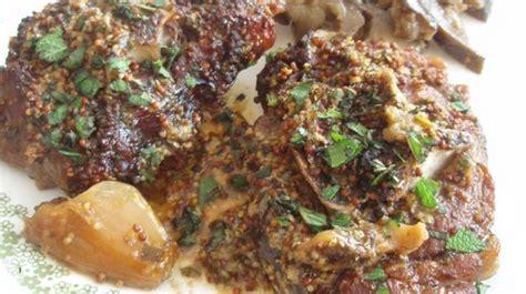cuisiner collier d agneau collier d agneau à la moutarde et menthe recette par floriane