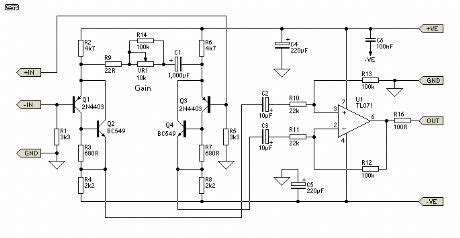 Low Noise Balanced Microphone Preamp Circuit Diagram World