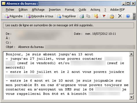 exemple message absence bureau top 10 des vrais messages d absences de bureau topito