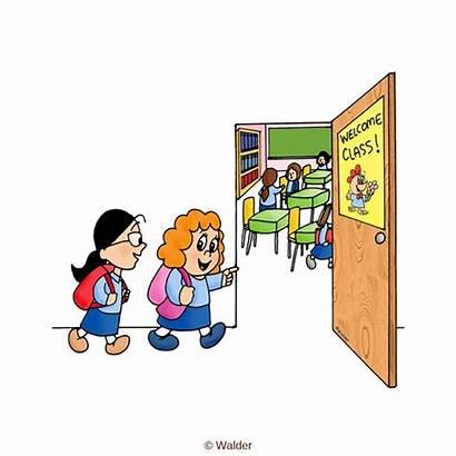 Entering Clipart Class Classroom Students Walder Razred