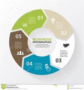 Vector Circle Arrows For Infographic  Diagram  Stock