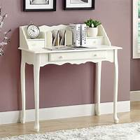 white secretary desk Traditional Antique White 36-inch Secretary Desk ...