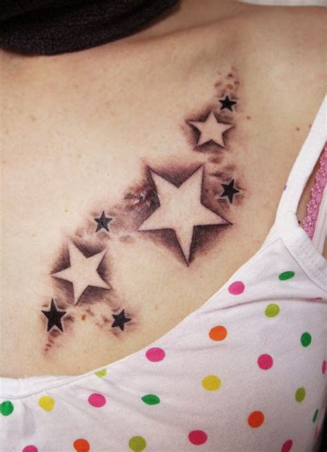 Star Chest Tattoos For Women  Best Home Decorating Ideas