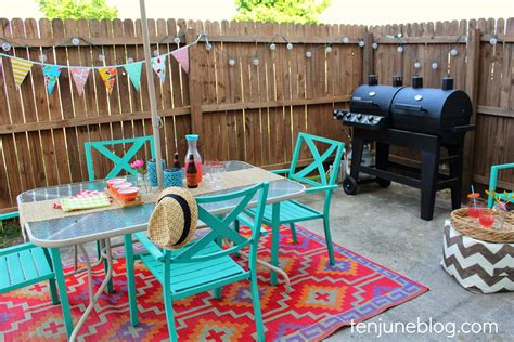 colorful backyard ideas ten june colorful outdoor patio makeover reveal