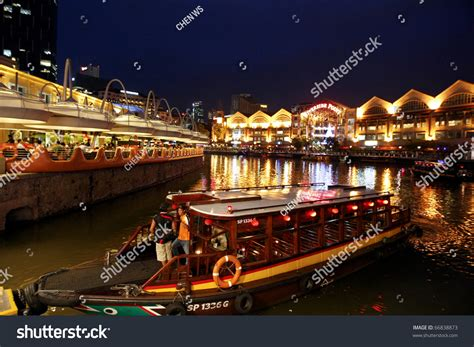 Boat Quay Ride Singapore by Singapore December 3 A River Cruise Boat Picks Up