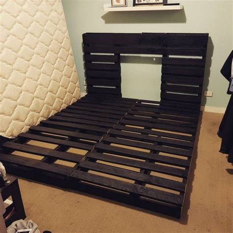 recycled pallet bed frame  storage ideas sensod