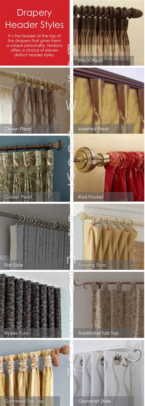 different types of drapes types of curtains