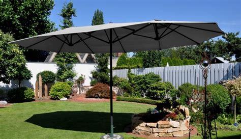 Leco Sonnenschirm Garten Markt Schirm Oval 2,70 X 4,60m