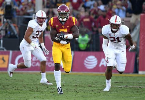 usc beats stanford    game   la times