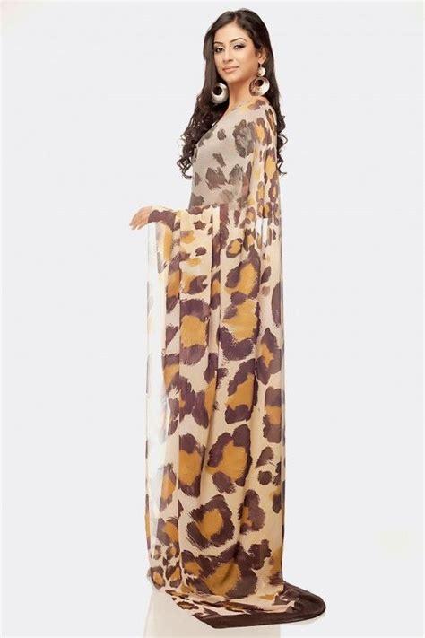 large leopard print pattern saree leopard pinterest