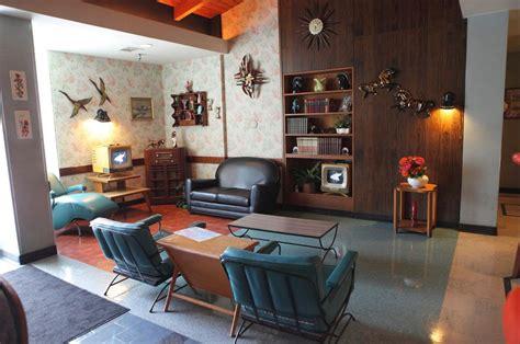 mid century modern living room elements