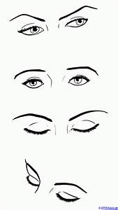 Simple Girl Eyes Drawing Closed Crying Eyes Sketch Simple ...