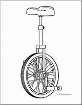 Unicycle Coloring Clip Sketch Clipart Abcteach Paintingvalley sketch template