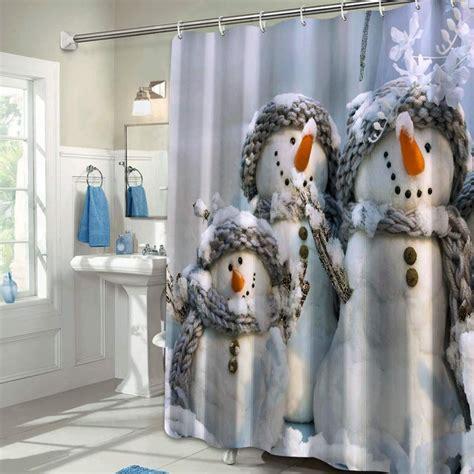 snowman proof amzn enregistree depuis curtain polyester waterproof colorful shower fabric star
