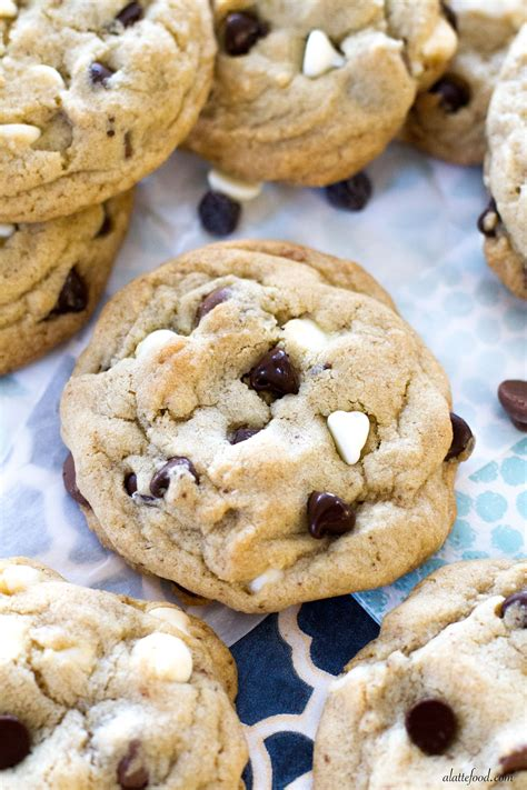 thick  chewy triple chocolate chip cookies  latte food