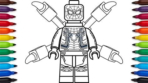 how to draw lego spider man from marvel s avengers