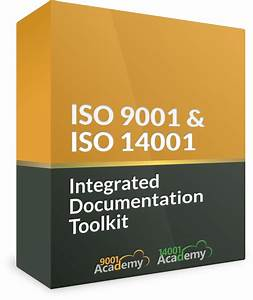 iso 9001 iso 14001 integrated documentation toolkit With iso 9001 documentation toolkit