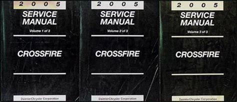 vehicle repair manual 2005 chrysler crossfire auto manual 2005 chrysler crossfire repair shop manual set original