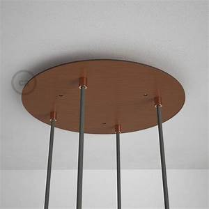 Round 13 80 U0026quot  Satin Copper Xxl Ceiling Rose With 4 Holes