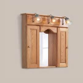 dayton oak finish 3 light medicine cabinet sears