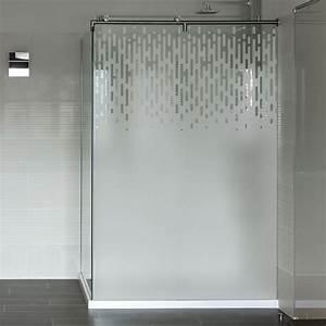 Vitre Pour Douche : sticker d poli pour paroi de douche d grad graphique ~ Premium-room.com Idées de Décoration