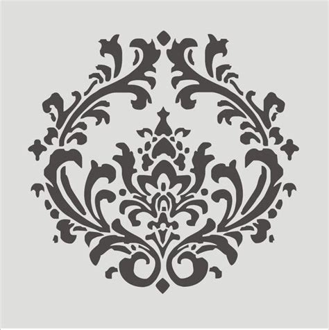 stenciling design stencils damask 4 3 stencil design 12x11 by superiorstencils 15 95 template downloads