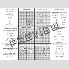 The Math Magazine Linear Equations Slope Intercept Graphs Foldable Graphic Organizer