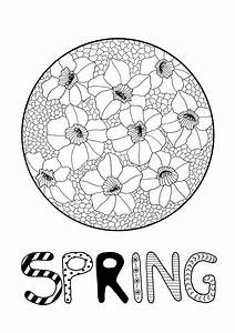 Daffodil Mosaic Adult Coloring Page