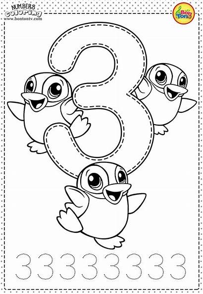 Coloring Number Learning Worksheets Preschool Pages Numbers