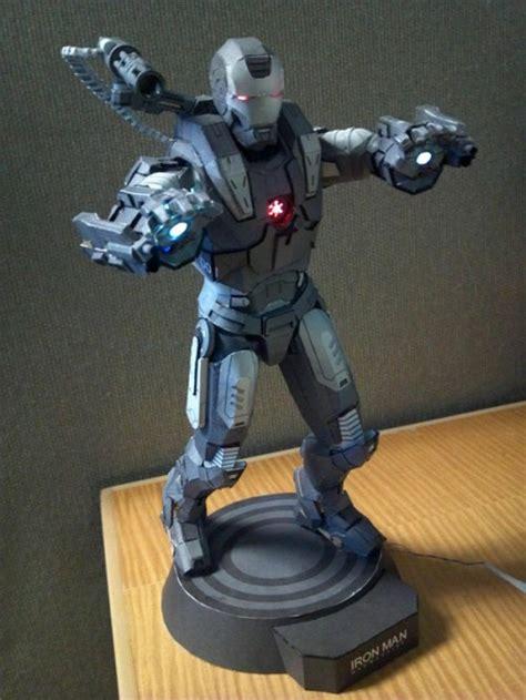 papercraft war machine statue neatorama