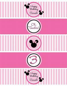 diy minnie mouse water bottle labels by With free printable minnie mouse water bottle labels