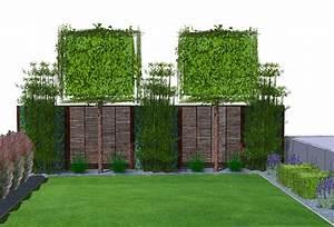 Kleiner Gartenzaun Holz : pflegeleichte moderne sichtschutz kombination aus immergr ner hecke und zaun mauer ~ Bigdaddyawards.com Haus und Dekorationen