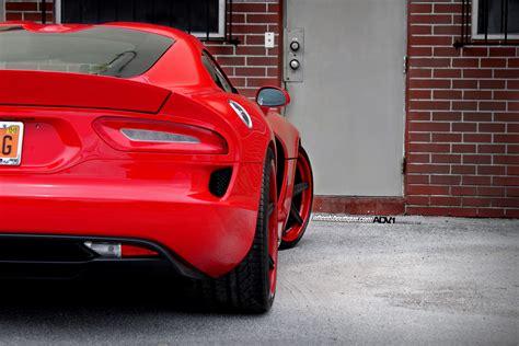 Red Dodge Viper Adv6 Track Spec Sl Wheels Adv1 Wheels