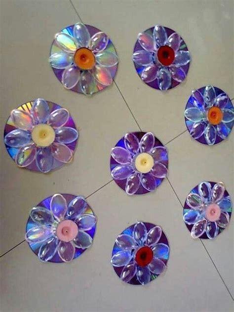 fleur en cd avec cuill 232 re en plastique fleur