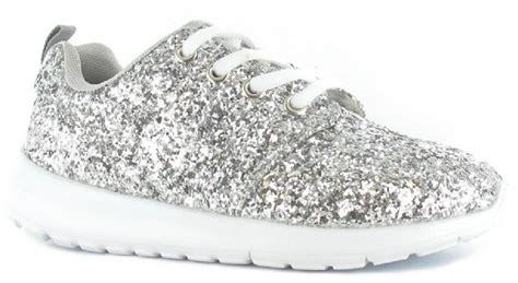 toddler silver dress shoes glitter silver lace up lightweight trainers