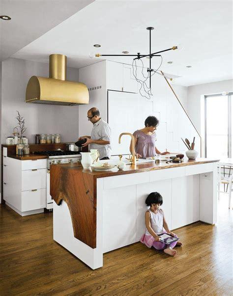 plan de bureau en bois cuisine blanche plan de travail bois inspirations de déco
