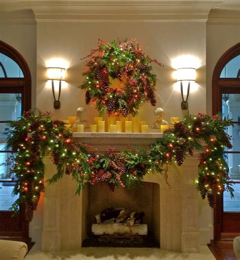 holiday decor holiday mantle garland traditional