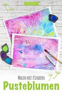 Mit Wasserfarbe Malen : wunderbare pusteblumen mit wasserfarben malen handmade ~ Watch28wear.com Haus und Dekorationen