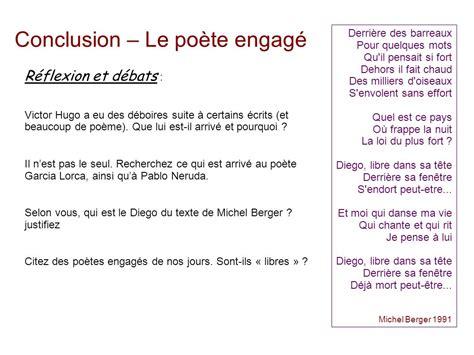 Conclusion Résumé De Texte by Po 233 Sie Engag 233 E Groupe Pr 233 Noms Ppt T 233 L 233 Charger