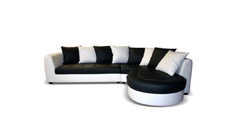 canapé forme haricot canapé d 39 angle à droite haricot pu blanc pu noir