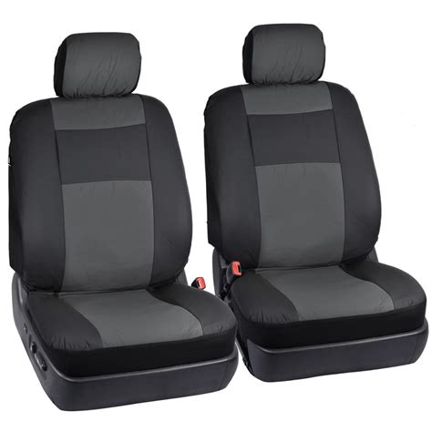 Auto Seat Upholstery by Black Gray Synthetic Leather Seat Covers For Car Suv